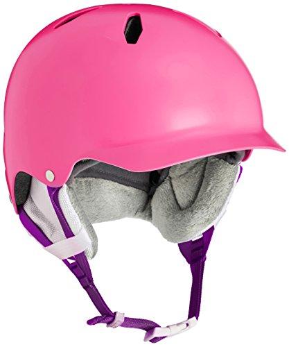 Shell Winter Liner (Bern Mädchen Helm Bandita Thin Shell Winter mit Liner-Satin weiß/weiß, Small/Medium S/M Satin Pink/White)