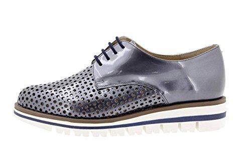Calzado mujer confort de piel Piesanto 1702 Zapato Cordón cómodo ancho