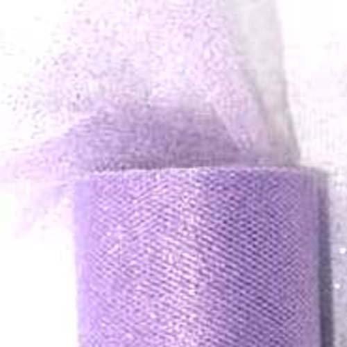 Silber Glitter Tüll (partydeco tiug15–002-karton–Rolle Tüll Glitter Lila)