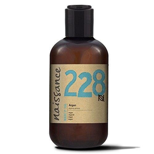 Naissance Olio di Argan del Marocco 250ml - Puro e Naturale, Anti-età, Antiossidante Vegan, Senza Esano, Senza OGM - Idratante Naturale per Viso, Capelli, Pelle, Barba e Cuticole