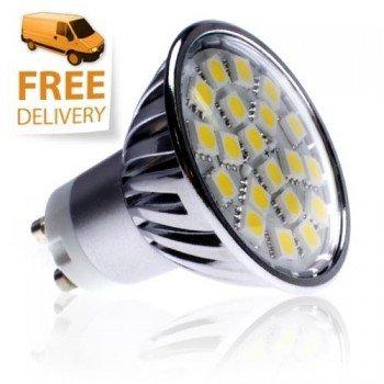 GU10 SMD LED Bulb, Lichtfarbe: Warmweiβ, Dimmbar 320 lumens, 50 Watt Equiv, 20pc 5050 SMD von LED Hut auf Lampenhans.de