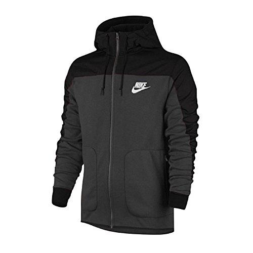 Nike M Nsw Av15 Fz Ssnl Felpa con Cappuccio, Anthracite/Nero/Bianco, L