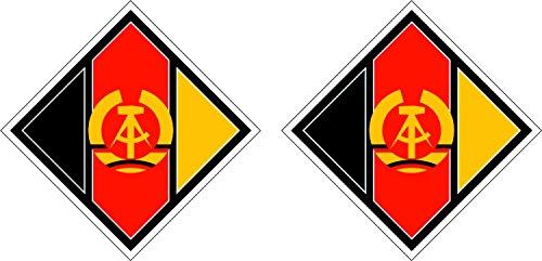 Preisvergleich Produktbild 2x Sticker Selbstklebend Luftfahrt Militärische Air Force Flugzeug aus Ostdeutschland DDR