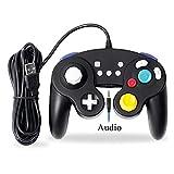 EXLENE Wired Controller Gamepad für Nintendo Switch mit Audio Funktion (3m/10ft), Kompatibel mit PC/PS3, GameCube Stil, Motion controls, Rumble, Turbo (Schwarz)