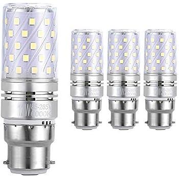 Hzsane B22 LED maíz bombilla, 12W, 6000K Blanco Frío LED Bombillas, 100W Incandescente Bombillas Equivalentes, 1200lm, B22 Bayoneta Cap Bombillas LED, ...