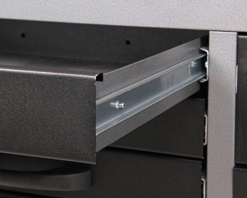 Ondis24 4250627025733 Werkbank, Metall, schwarz / grau, 170 x 60 x 85 cm - 6