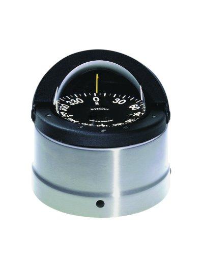 Ritchie Navigater Kompass, flaches Karten-Zifferblatt mit Unterputz und 12 V grüner Nachtbeleuchtung (Schwarz, 10,2 cm) -