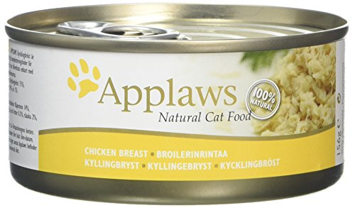 Applaws Cat Food Tin 156g Chicken Breast, Pack of 24