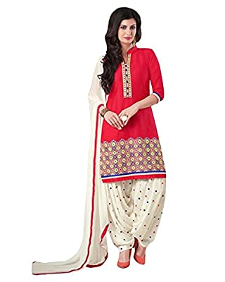 Pink Embroidered Salwar Kameez Dupatta - Pink Occasion : Party Saree, Office Wear Saree, Festival Saree
