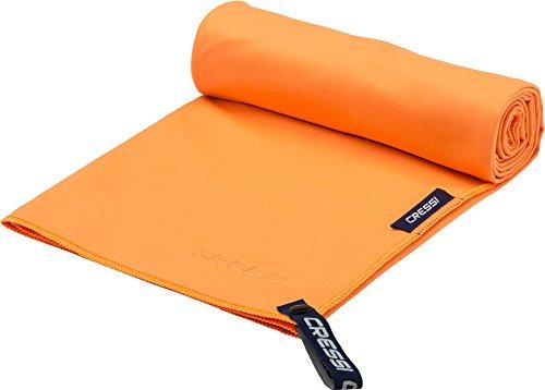 Cressi Microfibre Fast Drying Beach Towel Toalla de Sport, Unisex Adulto, Naranja, 90x180cm