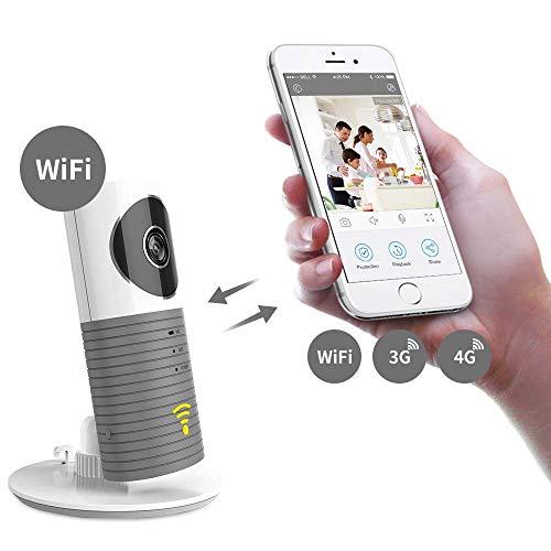 Laygudras drahtlose wifi kamera schlauen hund Smart baby monitor unterstützung P2P Nachtsicht Rekord Video Zwei-wege Audio Bewegung erkannt für ios / android tablet / smartphone (grau) (Tablets 3g)