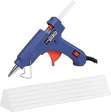 Okasta Leak Proof With On/Off Switch Heavy Hot Melt Glue Gun (Multicolor) Electronic Standard Temperature Corded Glue Gun (7 mm) (25 Sticks)