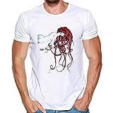 ♚Camiseta de Manga Corta con Estampado de Hombre y Camiseta de algodón de Manga Corta para hombrea Absolute