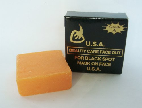K-BROTHERS Original USA Beauty Care Face Out For Black Spot Whitening Soap 50g.
