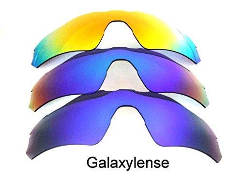 Galaxy Ersatzgläser Für Oakley Radar EV Path blau & grün & rot Polarisierend 3 Paar - Standard, regular