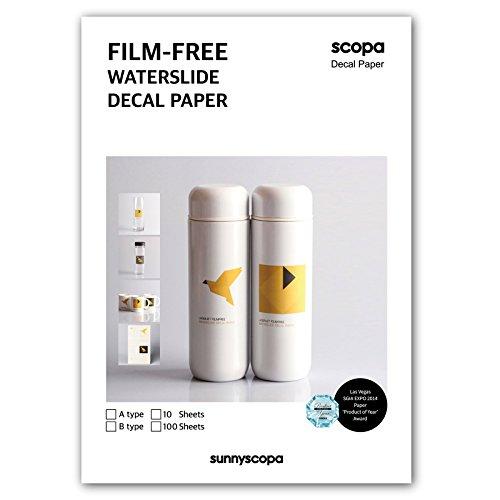 Sunnyscopa Filmlosen Laser Decal Papier Typ B A4 10 Blatt