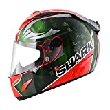 Shark Race-R Pro Sykes Integralhelm, Farbe rot-grün-chrom, Größe XL