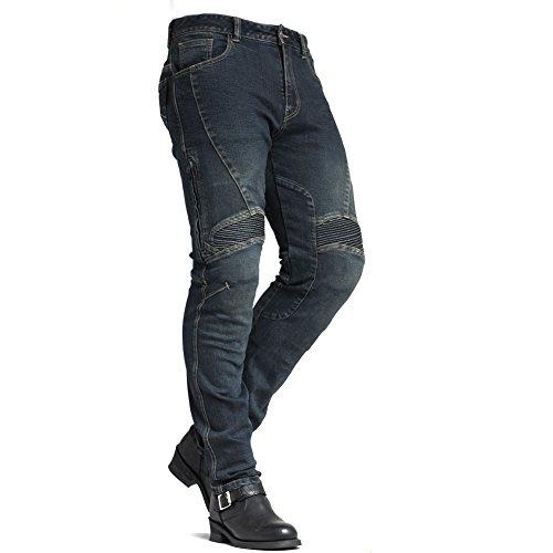 maxler Jean Herren Bike-Motorrad Kevlar Jeans 1604blau