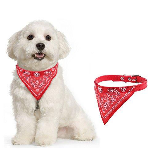 Qiuxiaoaa Haustier-Schal Hund Dreieck Speichel Handtuch Große Hund Golden Retriever Lätzchen Essen Lätzchen Heimtierbedarf Rot Klein (Essen Kostüm Für Hunde)