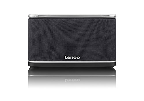 Lenco Playlink-4, Multiroom Wireless HiFi System (DLNA kompatibel, Mehrkanal Lautsprecher, bis zu 10 Nutzer, Streaming, WiFi, Bluetooth, NFC-Funktion, Qualcomm AllPlay), ohne Akku