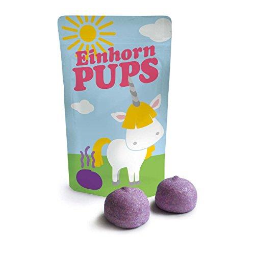 Produktbild bei Amazon - Welt der Einhörner Marshmellows, lecker und ein echter Hingucker (Einhorn Pup0s klein 18 g)