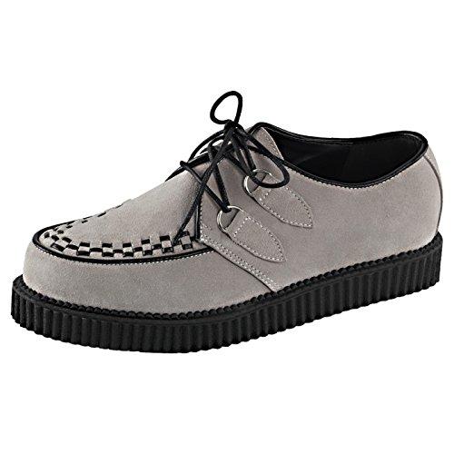 Demonia - Defining Alternative Footware Plateau Schuhe Creeper-602S Grau, EU 44