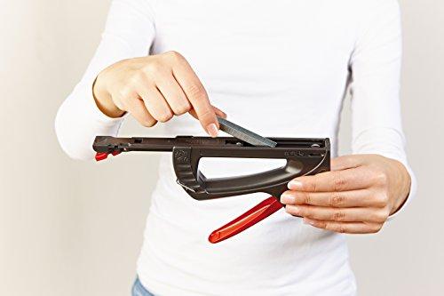 Novus 030-0436 J-11 creative, agrafeuse en plastique ABS, poignée à verrouillage vers le bas, mécanisme de chargement à l'arrière, agrafes à fil fin jusqu'à 8 mm