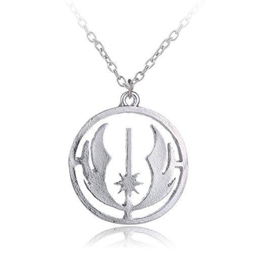 Jedi Orden Logo Star Wars Anhänger Halskette Kostüm - Star Wars Requisiten Kostüm