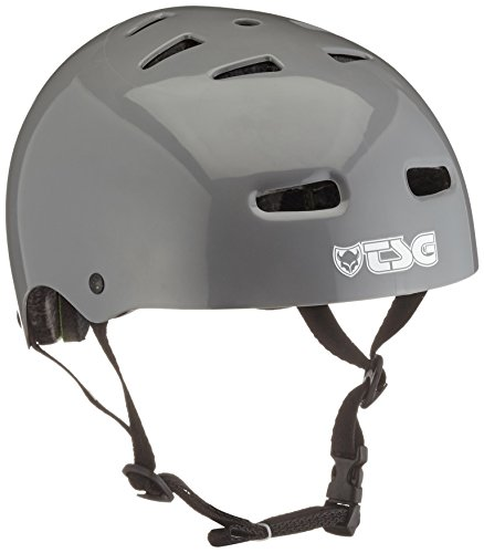 TSG Helm Skate/BMX Solid Color, Injected Grey, S/M, 75040