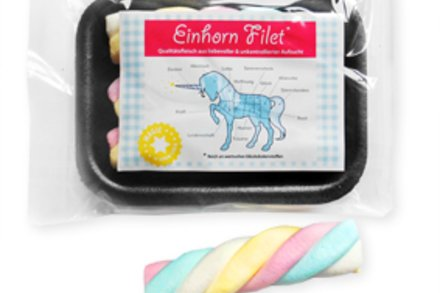 Einhorn Filet, Mellow Regenbogen-Speckseile, ca. 30 gr. Filet