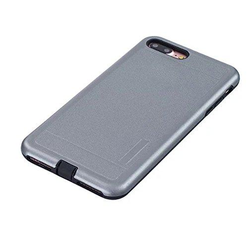 JIALUN-étui pour téléphone Housse de protection en couleur pleine couleur pour Apple IPhone 7 Plus 5.5 pouces ( Color : Silver ) Gray