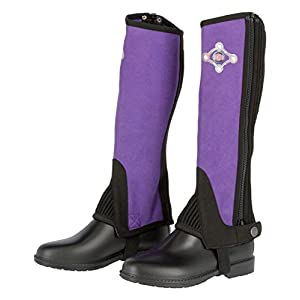 Covalliero Kinder Kinderminichaps Lilli Black/Purple, Größe 134 Chaps