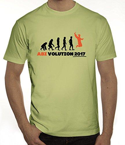 Abschluss Abitur Herren T-Shirt mit Abi Evolution 2017 Motiv von ShirtStreet Limone