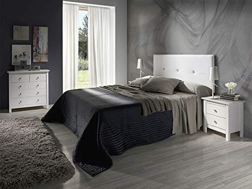 Cabecero tapizado BARATO Judith Blanco 160 X 55 X 3 cm, Incluye herrajes para Colgar