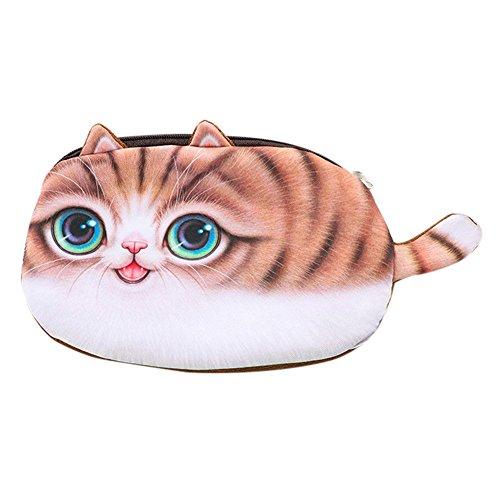 Pencil case gaddrt Kinder beste Geschenk Schule Katze Gesicht Federmäppchen Aufbewahrungstasche Geldbörse Kosmetiktasche (A)