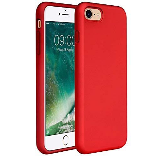 Coollee Coque iPhone 6 iPhone 6S Silicone Couleur Housse de Téléphone Ultra Slim Rouge Mat Etui de Protection Bumper en TPU Brillant Anti Rayures Anti-empreintes Ultra Léger Case Coloré Back Cover