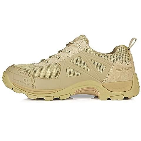 Free Soldier Herren Rapid rutschfest Camping Wandern Mountain All-Terrain Offroad Schuhe Desert Boots Sand Color,