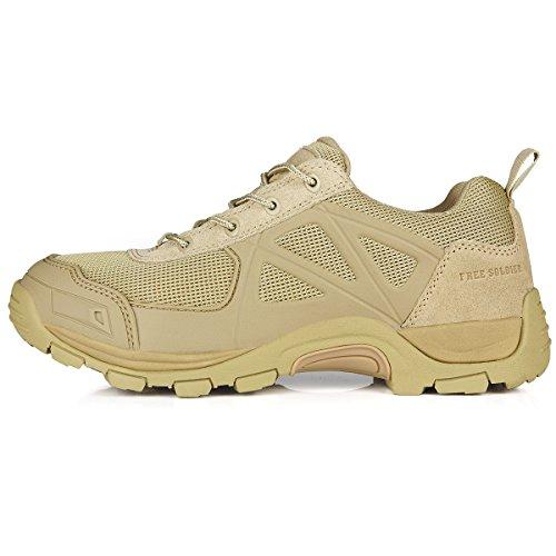 Free Soldier Herren Rapid rutschfest Camping Wandern Mountain All-Terrain Offroad Schuhe Desert Boots, Sand Color, 47