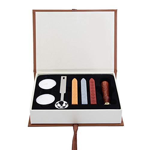 Wifehelper Holzgriff Siegelwachs Sticks Classic Seal Stamp Set f黵 Hochzeit Einladungskarten Wachs Seal Kit Wachssiegel Stempel Set mit Seal Wax Sticks (Wax Seal Bee)