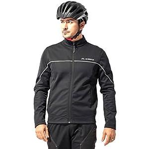 Inbike Chaquetas para Hombre, Chaqueta Ciclismo, Color Negro&Silver, Talla M