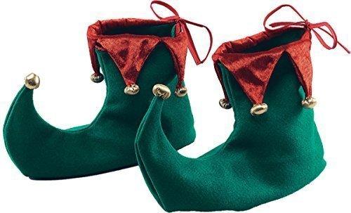 Erwachsene Kostüm Weihnachten Party Santa Kleine Helfer Elfen Schuhe Mit (Santa's Kostüme Weihnachten Grüne Helfer Erwachsene)