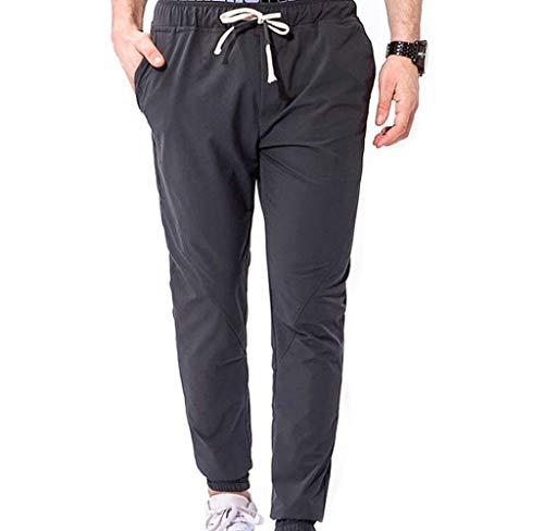Nvfshreu Pantalones De Verano Chinos Los De Pantalones Hombres Largos Pantalones Estilo Simple Cómodos De Los Pantalones De Jogging Campo De Dorsal Lluvia De Poliéster De Calidad