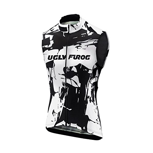 Uglyfrog HDZRMJ02 Radsport Trikots Ärmellos Sport & Freizeit Shirts Cycling Vest Breathable Winter with Fleece Warm Style Fahrradbekleidung Thermisches Fahrradtrikot -