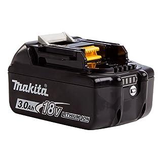 Makita BL1830B 18V Li-Ion Battery 3.0Ah (with Charge Level Indicator), 18 W, 18 V, Black/White, S