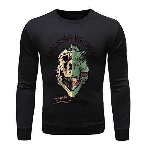 serliyHerren Langarmshirt Longsleeve T-Shirt Rundhals Top | Männer Longsleeve Sweater | dünner Pulli Sweatshirt Pullover