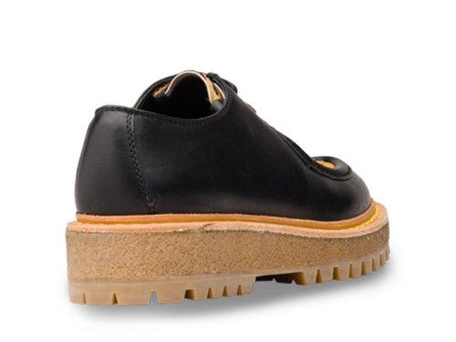 F Schwarz Modellnummer und F0H5W 045 Shoe Kalb Frauen in schwarz KDE05J Car pony Schn眉r Derby 3A3Z O4awTAqR