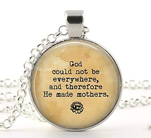 Gott Kann nicht überall sein, daher ER Made Mütter, Zitat Halskette