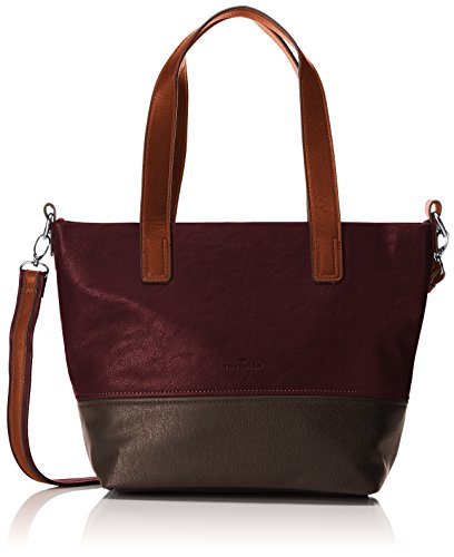 TOM TAILOR Acc Damen Carly Schultertasche, Rot (Wine), 14x25x36 cm