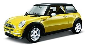 Burago 18-25078 - Coche Mini Cooper 2001 Burago, amarillo