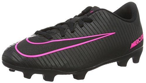 Größe Kinder 3 Nike Mädchen Schuhe (Nike Unisex-Kinder Mercurial Vortex III FG Fußballschuhe, Schwarz (Black/Black), 37.5 EU)